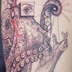 Tatouage artistique Pieuvre